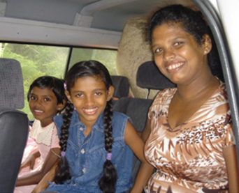 Bringing Renuka's children home from the orphanage