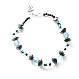 Beaded Anklet Blue