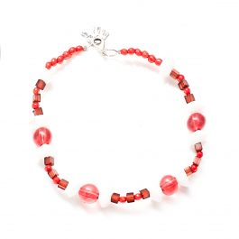 Beaded Anklet Red