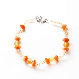 Beaded Anklet Orange